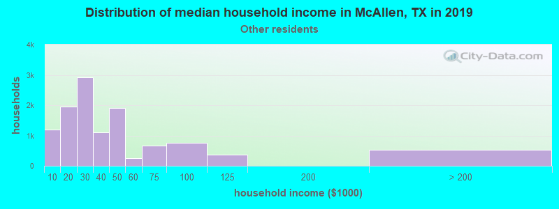 McAllen household income for Some other race householders
