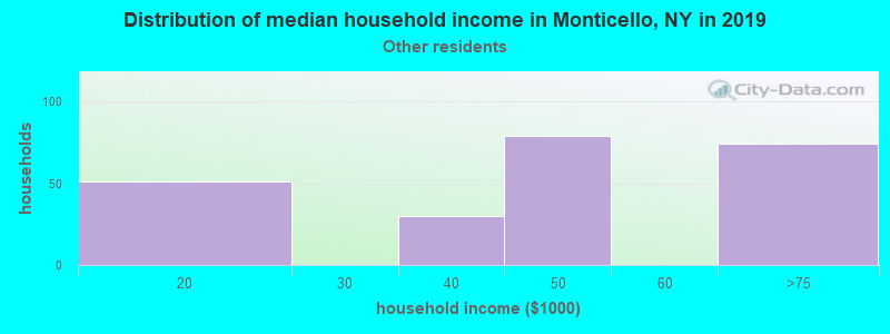 Monticello household income for Some other race householders