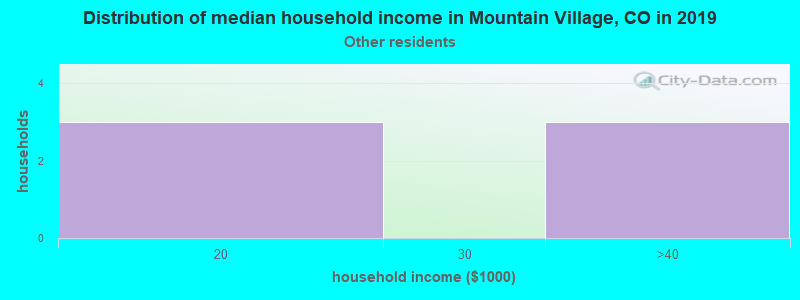 Mountain Village household income for Some other race householders