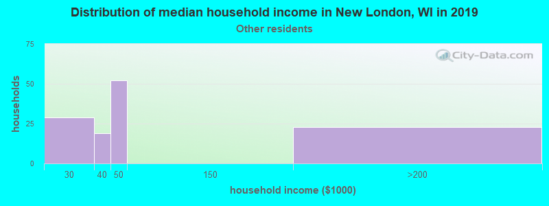 New London household income for Some other race householders