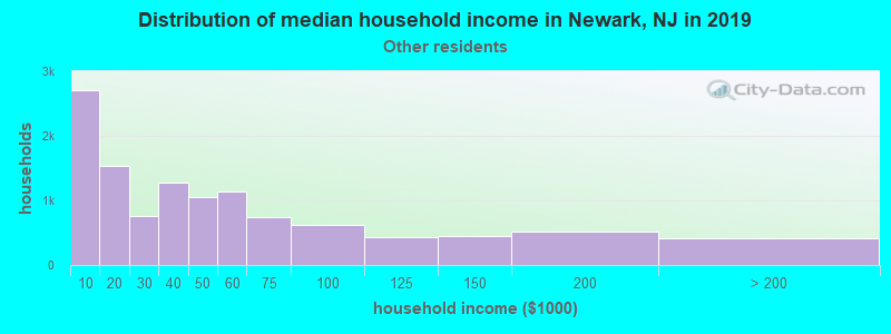 Newark household income for Some other race householders