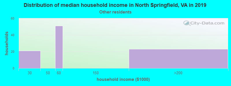 North Springfield household income for Some other race householders