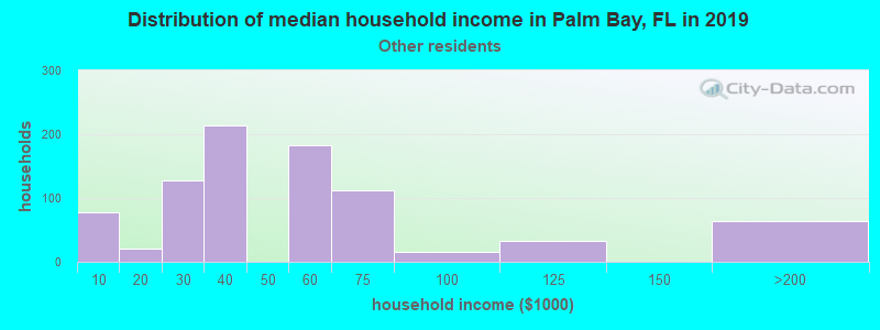 Palm Bay household income for Some other race householders