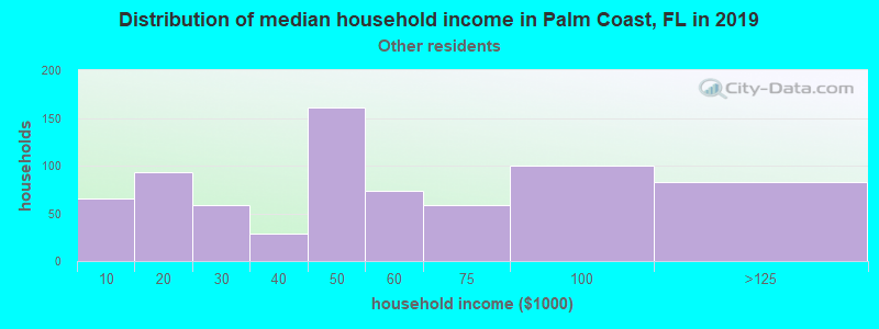 Palm Coast household income for Some other race householders