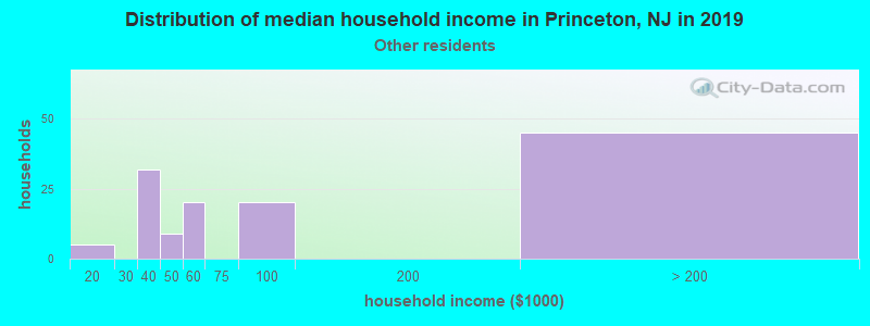 Princeton household income for Some other race householders