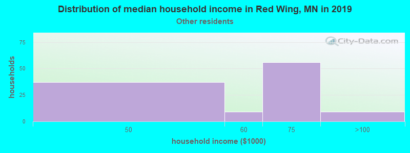 Red Wing household income for Some other race householders