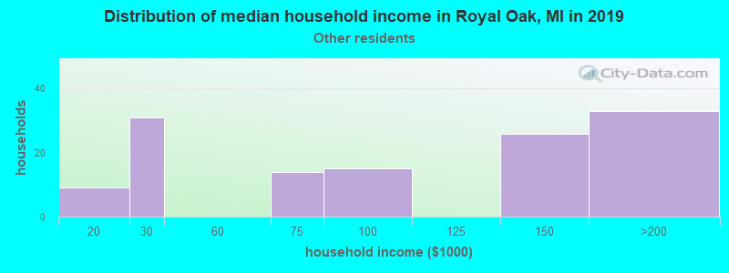 Royal Oak household income for Some other race householders