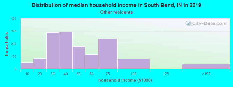 South Bend household income for Some other race householders