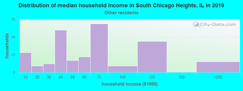 South Chicago Heights household income for Some other race householders
