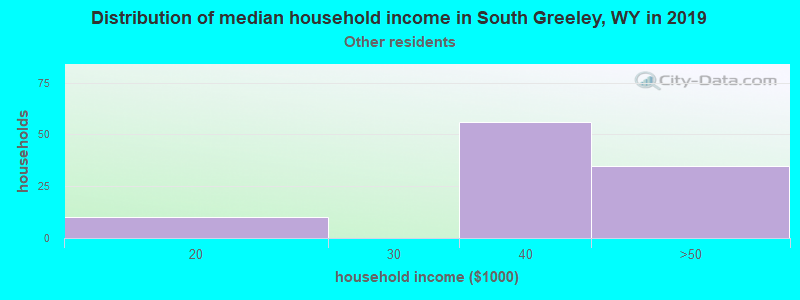 South Greeley household income for Some other race householders