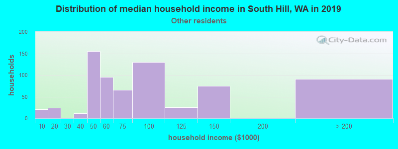 South Hill household income for Some other race householders