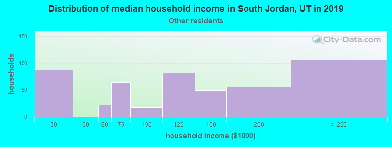 South Jordan household income for Some other race householders