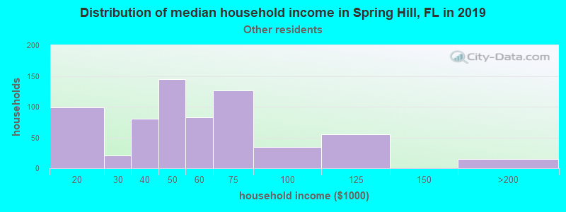 Spring Hill household income for Some other race householders