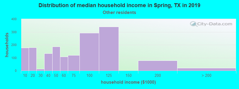 Spring household income for Some other race householders