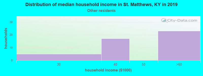 St. Matthews household income for Some other race householders