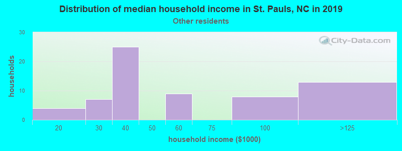 St. Pauls household income for Some other race householders