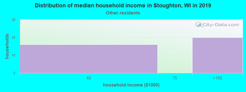 Stoughton household income for Some other race householders