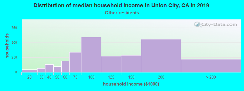 Union City household income for Some other race householders