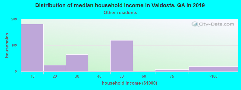 Valdosta household income for Some other race householders