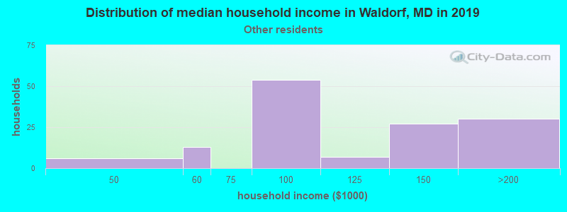 Waldorf household income for Some other race householders