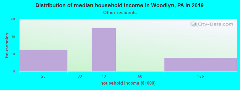 Woodlyn household income for Some other race householders