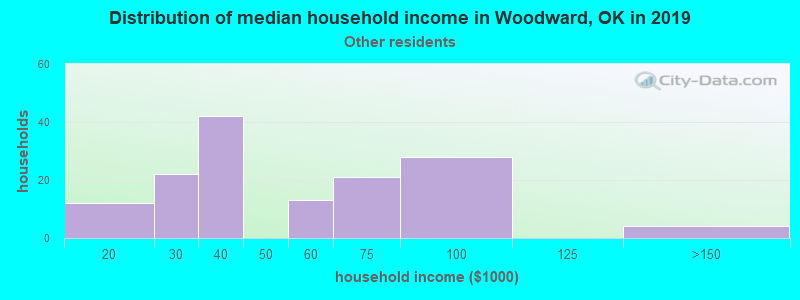 Woodward household income for Some other race householders