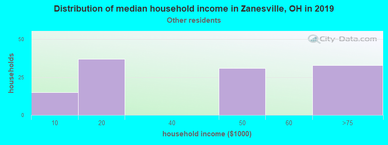 Zanesville household income for Some other race householders