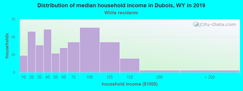 Dubois household income for White non-Hispanic householders