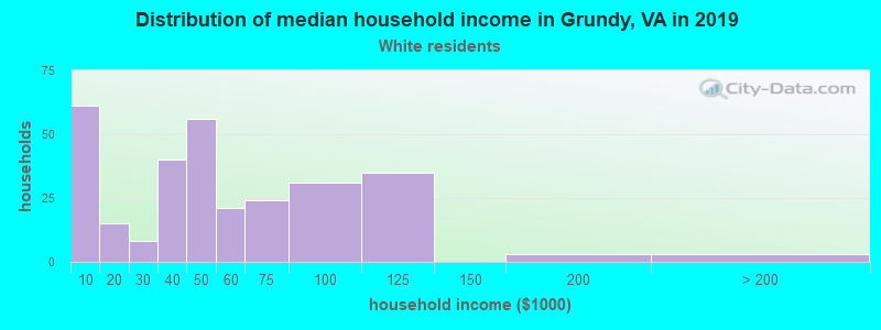 Grundy household income for White non-Hispanic householders