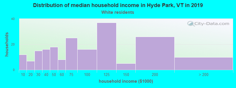 Hyde Park household income for White non-Hispanic householders
