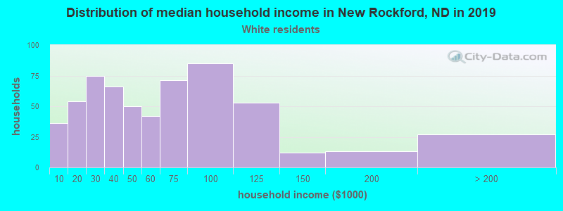 New Rockford household income for White non-Hispanic householders