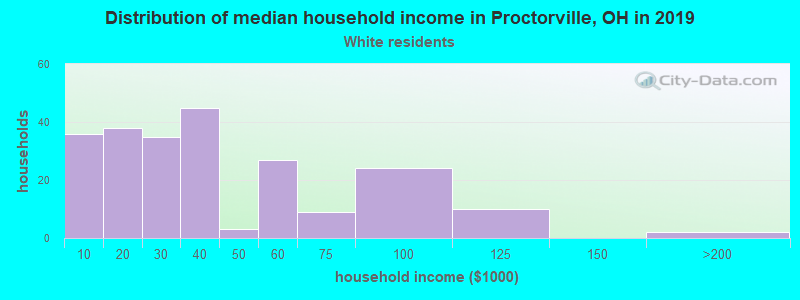 Proctorville household income for White non-Hispanic householders