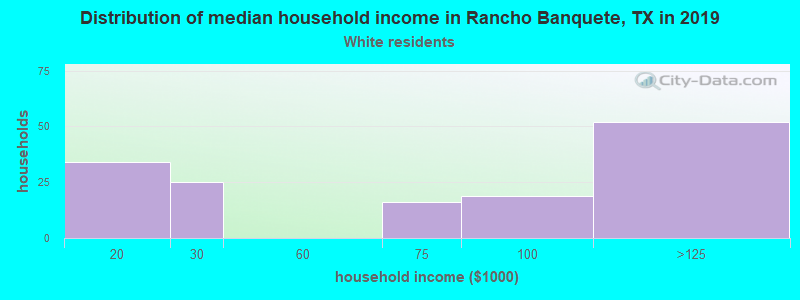 Rancho Banquete household income for White non-Hispanic householders