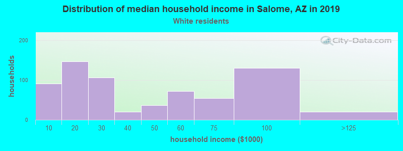 Salome household income for White non-Hispanic householders