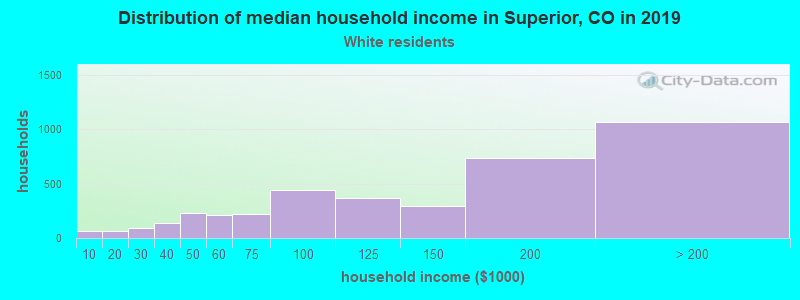 Superior household income for White non-Hispanic householders