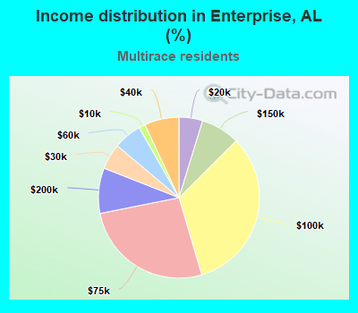 Income distribution in Enterprise, AL (%)