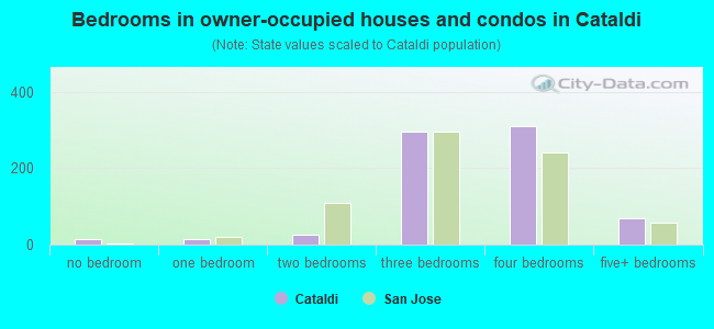 Bedrooms in owner-occupied houses and condos in Cataldi