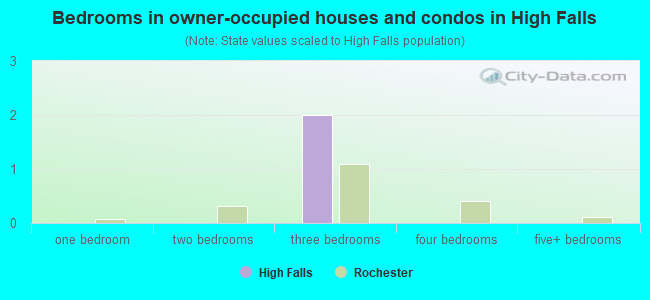 Bedrooms in owner-occupied houses and condos in High Falls