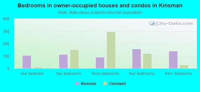 Bedrooms in owner-occupied houses and condos in Kinsman