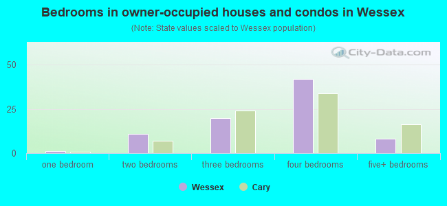 Bedrooms in owner-occupied houses and condos in Wessex
