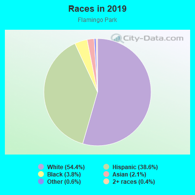 Races in Flamingo Park in West Palm Beach neighborhood in FL