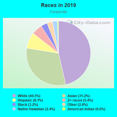 Races in Forest Hill in San Francisco neighborhood in CA