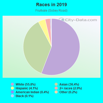 Races in Fruitvale in Saratoga neighborhood in CA
