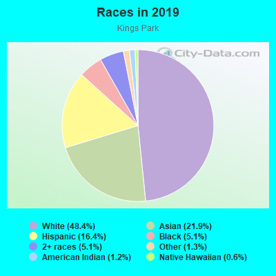 Races in Kings Park in Springfield neighborhood in VA
