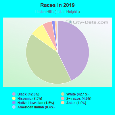 Races in Linden Hills in Kansas City neighborhood in MO