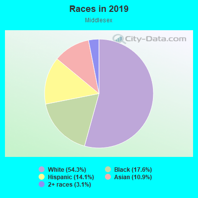 Races in Middlesex in Des Moines neighborhood in IA