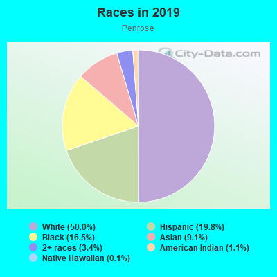 Races in Penrose in Arlington neighborhood in VA
