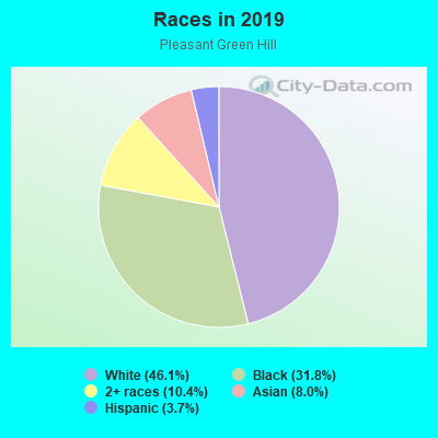 Races in Pleasant Green Hill in Lexington neighborhood in KY