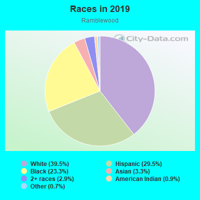 Races in Ramblewood in Pompano Beach neighborhood in FL