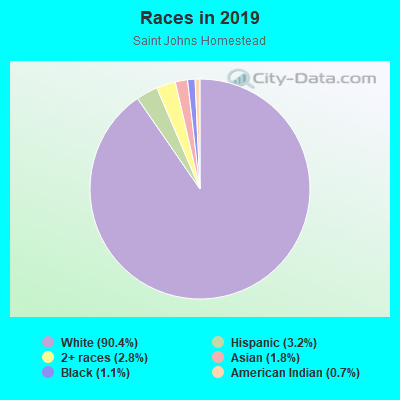 Races in Saint Johns Homestead in Vancouver neighborhood in WA